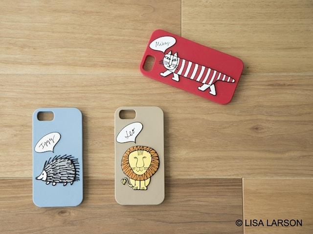 猫の「マイキー」、ハリネズミの「イギー」、ライオンの「レオ」デザインのモバイルケース by studio CLP×リサ・ラーソン