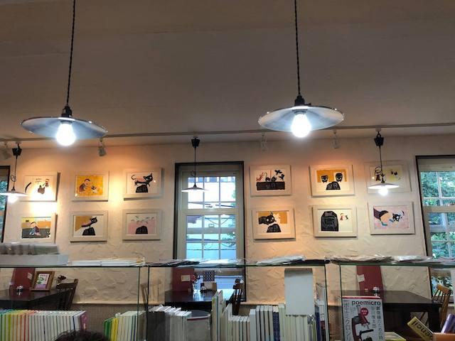 札幌のイベントスペース「俊カフェ」で開催中の「ねこちゃん どうしたの?」原画展