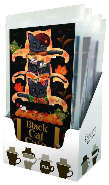 猫のティーバッグ「ブラックキャットカフェ」の陳列イメージ