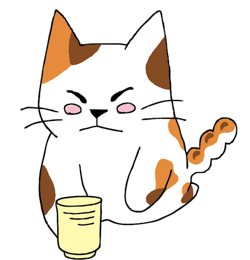 日本茶をPRする猫キャラ「みたらしちゃん」