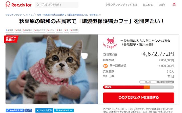 秋葉原の昭和の古民家で「譲渡型保護猫カフェ」を開きたい! by 一般財団法人ちよだニャンとなる会