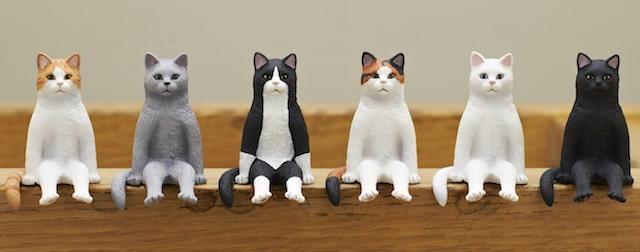 猫フィギュア「座る猫」全6種類