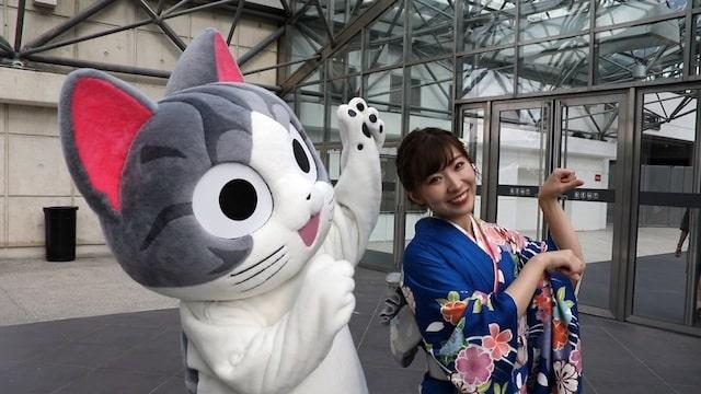 ジャパンエキスポ2018に登場したこねこのチー