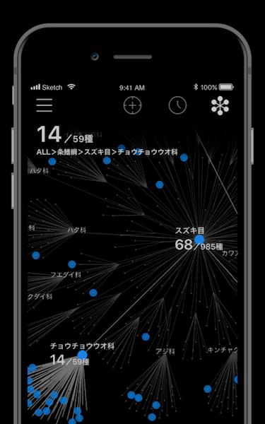 アプリ「LINNÉ LENS(リンネレンズ)」の記録で自分だけの図鑑を作ることも可能