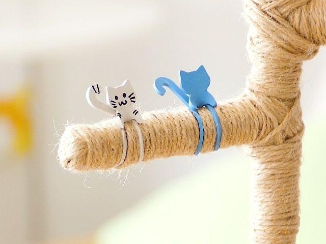 簡単に着脱できるかわいい猫型のゴムバンド「Qutto(きゅっと)」