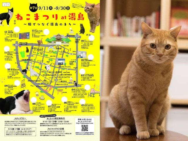 下町の猫イベント「第7回ねこまつり at 湯島」が9/11から開催