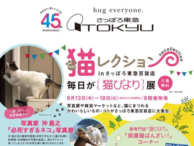 沖昌之氏のネコ写真展も開催、第4回 猫レクション in さっぽろ東急百貨店