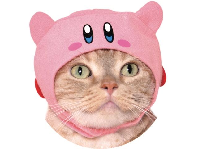 愛猫が星のカービィに変身ニャ!かわいい かわいい ねこのかぶりもの最新作が登場