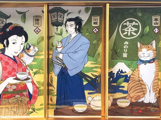 パッケージが可愛い♪ ネコ好きのための日本茶ギフトセット「猫茶屋 駿河」
