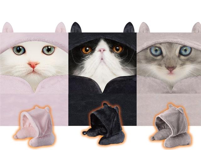 今年の冬はこれで温まるニャ!USBで充電できるヒーター付きの猫耳フードが登場