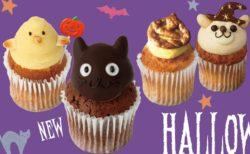 菓子研究家プロデュース、黒猫やクマ魔女など可愛いハロウィンカップケーキが販売中