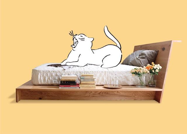 新作の猫用ベッド by ネコ家具