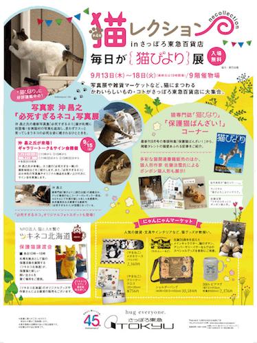 第4回 猫レクション in さっぽろ東急百貨店のポスター