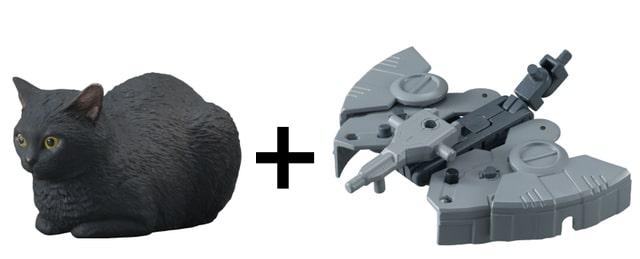 黒猫×ジェットメカ(ねこぶそう並盛りD)