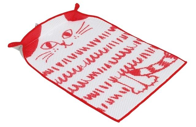 猫デザインの水切りマット(表面)