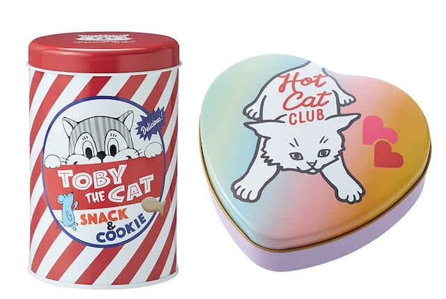 猫デザインのお菓子缶 in private×Cat's ISSUE