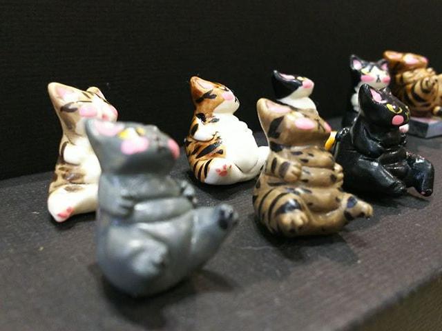 猫の粘土作品 by 和猫路