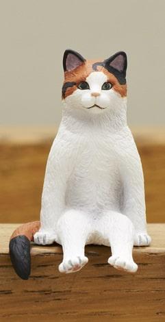 三毛猫 by フィギュア「座る猫」