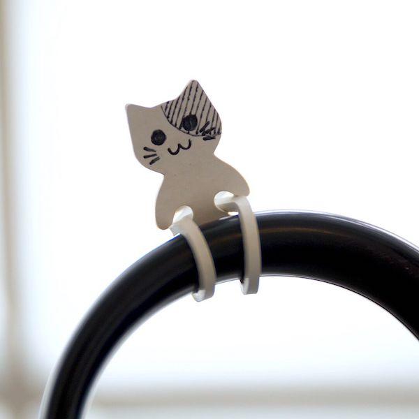 自分だけの目印になる猫型ゴムバンド「Qutto(きゅっと)」