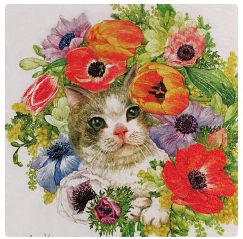 猫の水彩画 by KA atelier