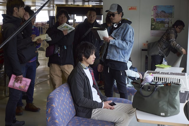 映画旅猫リポートの撮影現場の様子