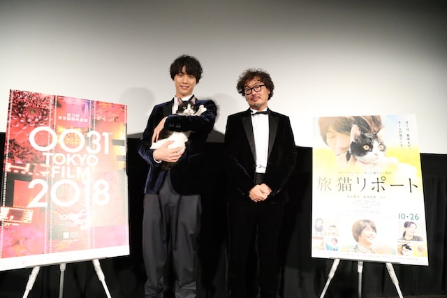 映画旅猫リポートの舞台挨拶に現れた福士さん&ナナ&三木監督