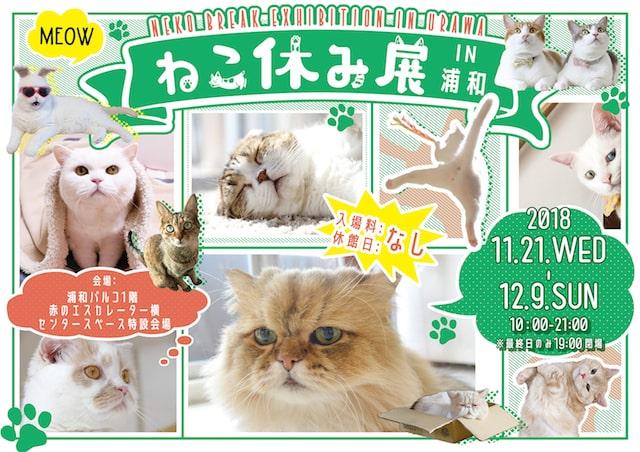ねこ休み展 in 浦和(猫の写真展&物販展)のパンフレット