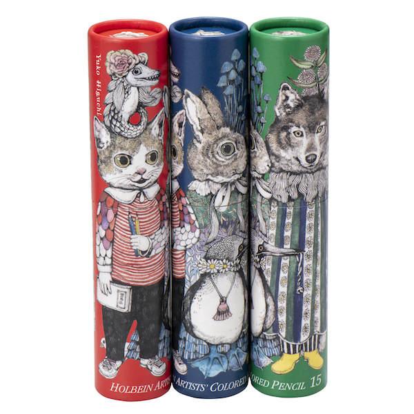 ヒグチユウコ・アーチスト色鉛筆15色セット全3種