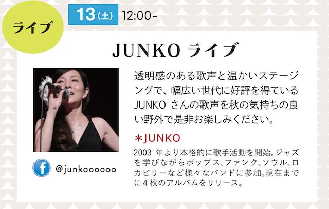 ミュージシャンJUNKOによるチャリティーライブイベント
