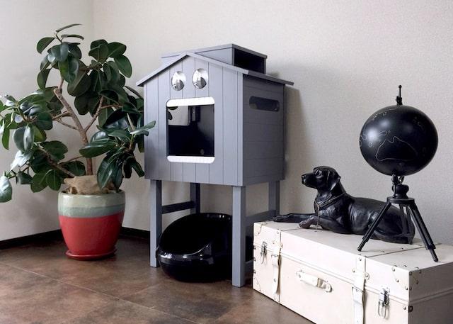 ペットハウス「マイクとチアリの家」を部屋に設置したイメージ