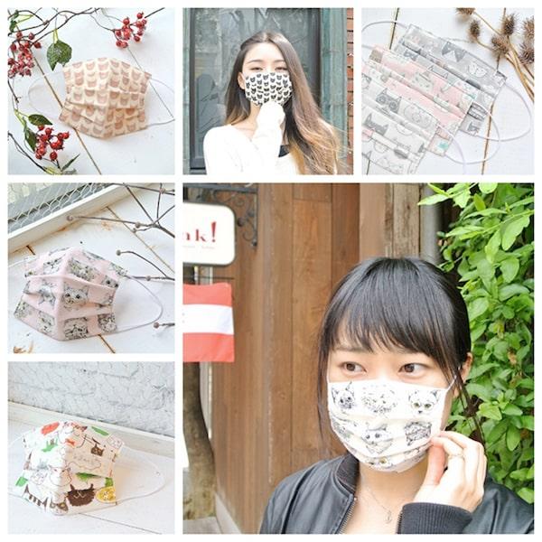 猫のマスク by TEMARIYA handmade masks