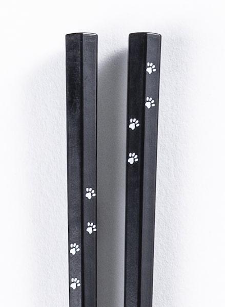 「ねこのはし」にプリントされている猫の足跡柄