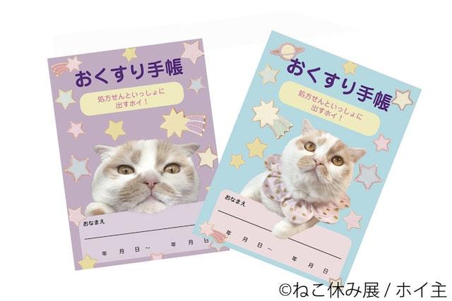 猫デザインのおくすり手帳