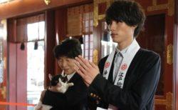 福士蒼汰が主演猫・ナナと一緒に神田明神でヒット祈願!フォトセッションも公開