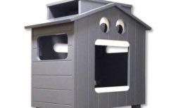 まるでブリキのロボット?重厚なペットハウス「マイクとチアリの家」が新登場
