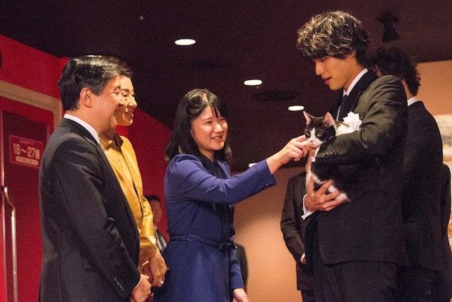 旅猫リポートの主役猫「ナナ」を撫でる内親王殿下・愛子さま