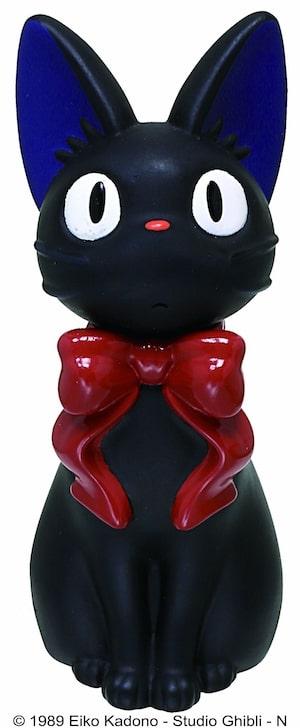 黒猫ジジのソフビマスコット、澄ました顔バージョン