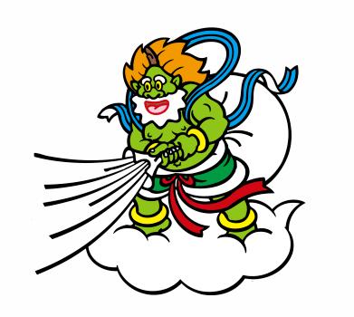 改源・改源のマスコットキャラクター「風神さん」