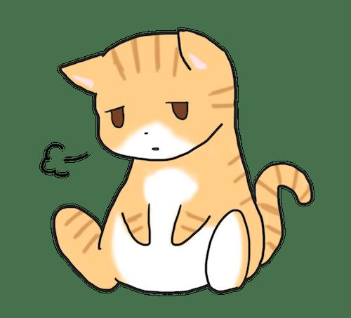 しょんぼりする猫のイメージイラスト