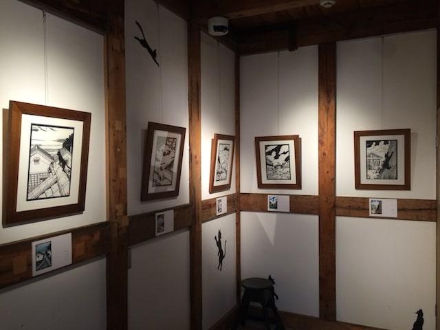 高木亮きりえ展の展示風景 in GALLERY KAI(ギャラリー会・吉祥寺)