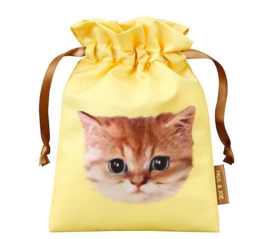 ポールアンドジョーの猫をモチーフにしたオリジナル巾着