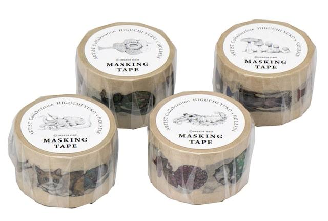 ヒグチユウコデザインのマスキングテープ(商品パッケージ)