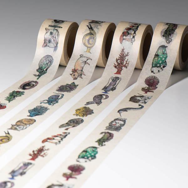 ヒグチユウコデザインのマスキングテープ(使用イメージ)