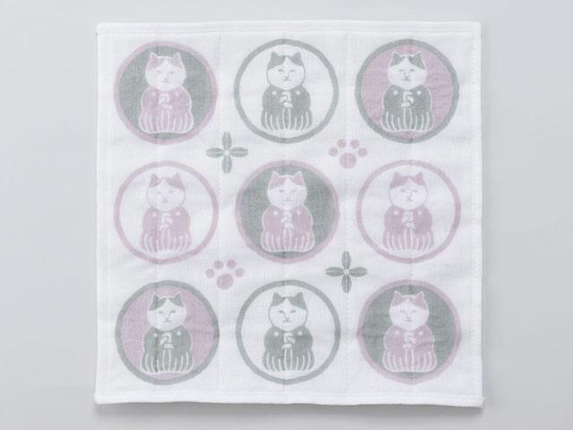 ねこ茶商デザインの「蚊帳生地ふきん(全6柄)」