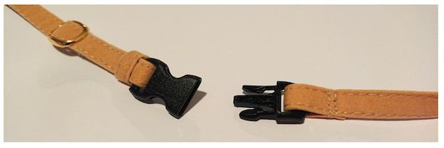 「Catlog(キャトログ)の首輪のベルトに使用しているセーフティ・アジャスター