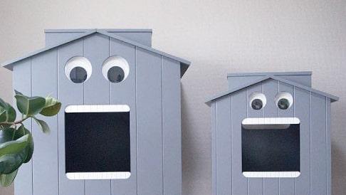 ペットハウス「マイクとチアリの家」のSサイズとLサイズ比較