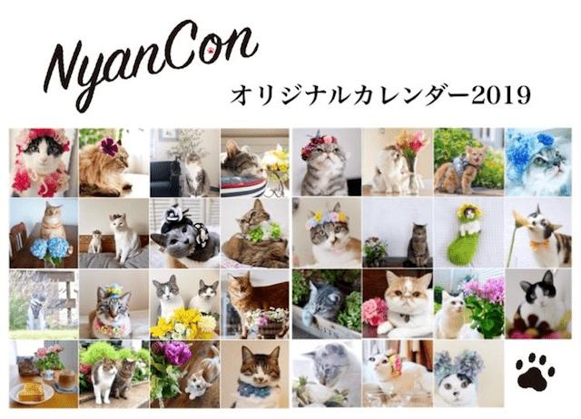 おしゃれな日めくり猫カレンダー「ニャンカレ2019-花と猫-」