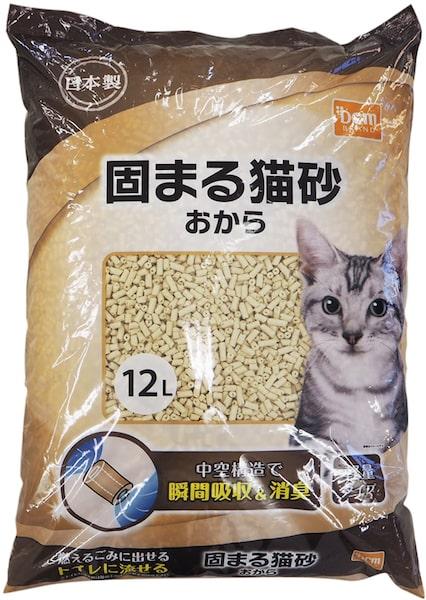 「DCMブランド 固まる猫砂 おから」の商品パッケージ