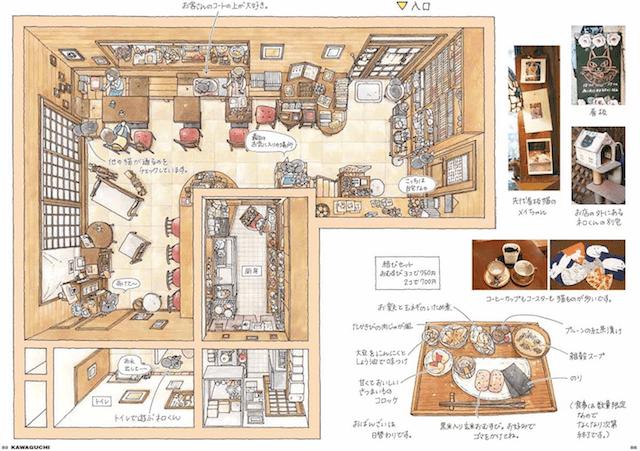猫がいる料理屋の俯瞰図 by 東京猫びより散歩