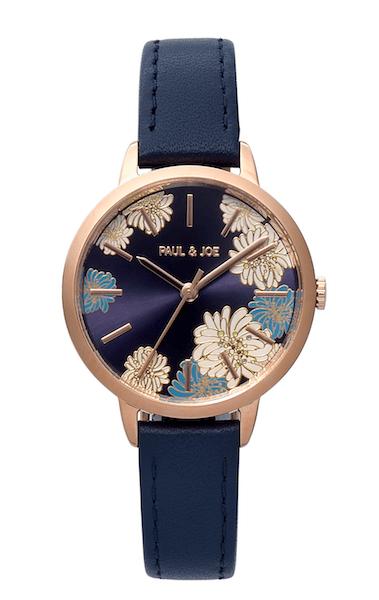 ポールアンドジョーの腕時計CHRYSANTHEMUM(クリザンテーム)ネイビー